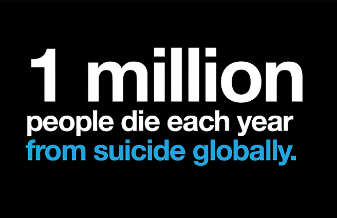 1 million people die each year globally from suicide Fox Emerson