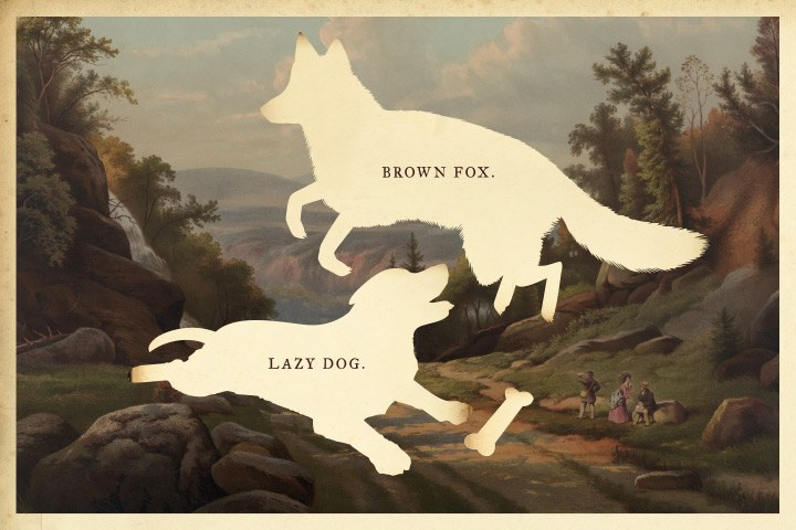 The Quick Brown Fox Jumped Over The Lazy Dog Fox Emerson