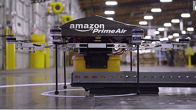 Amazon Drone is Doing a Delivery Fox Emerson
